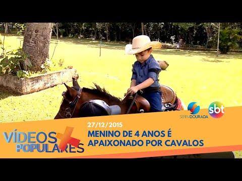 Menino de 4 anos apaixonado por cavalos