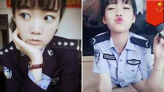 Sexy selfies get Chinese cop fired: Cadet kicked out for taking 'vulgar' pics in uniform - TomoNews