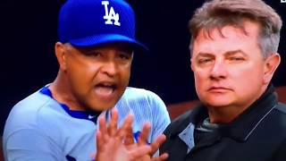 Dave Roberts Ejected Padres Stealing Signs Dodgers Benches Clear
