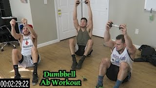 Intense 5 Minute Dumbbell Ab Workout