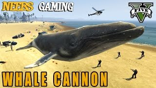 WHALE CANNON -  Animal Cannon Mod - GTA 5 Gameplay Video