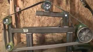 home made belt grinder 2x72 part 2
