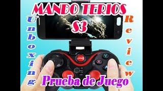Mando De Juegos Bluetooth Terios S3- Unboxing, Review y Prueba de Juegos