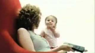 Cute baby arguing with mom