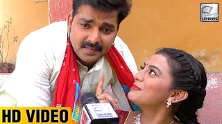 Pawan Singh & Akshara Singh's Interview | Movie Lootere | Holi 2017 | Lehren Bhojpuri