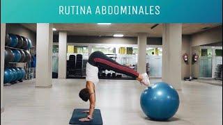 Rutina Abdominales con Fitball