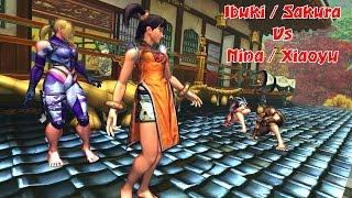 Nina & Xiaoyu vs Ibuki & Sakura   Street Fighter x Tekken barefoot Battle   SFxT Mods