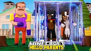 Minecraft Baby Hello Neighbor - MOM AND DAD NEED OUR HELP - Little Club Baby Max Gameplay