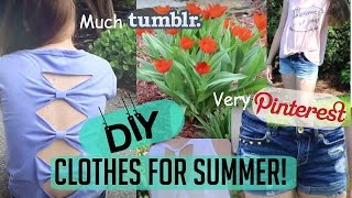 DIY no-sew Clothes for summer! Tumblr/Pinterest inspired!