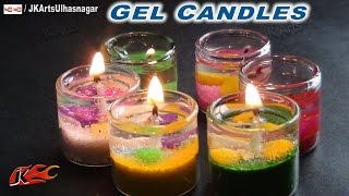How to make Gel Candles in Cute Small Glass |  JK Arts  684