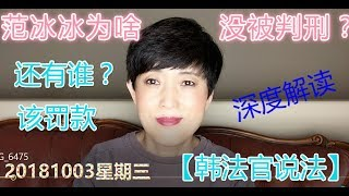 8103-3【范冰冰为什么不被控告刑事犯罪】【韩法官说法】