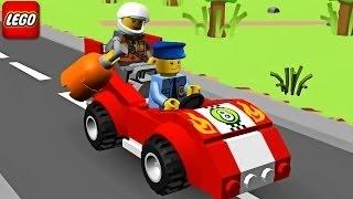 Hoạt hình 3D xe ô tô cảnh sát đuổi bắt cướp ll Lego Police Car, Cartoon about Lego