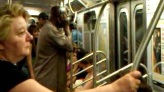 Crazy ass jamaican guy rapping on subway part 2