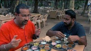Rocky, Mayur enjoy a relaxed meal in Shrivardhan