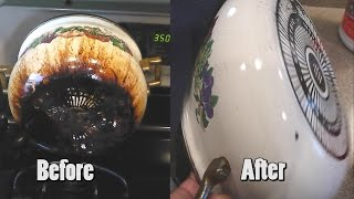How To Remove Pots and Pans Stubborn Grease Stains $1