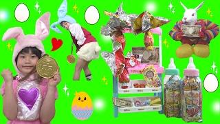 イースターお菓子屋さん巨大チョコエッグの中から・・・!? お店屋さんごっこ こうくんねみちゃん Play Candy Shop Easter