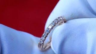 RIVIERA PAVE DIAMOND RING