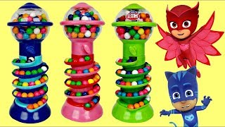 Learn Colors GUMBALL BANK Candy Dispenser, PJ MASKS, Paw Patrol Magical Toy Microwave / TUYC