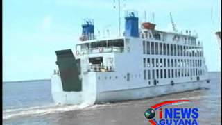 The new Roll onRoll off Ferry Vessel 'MV Kanawan' today made its