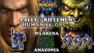 Grubby | Warcraft 3 The Frozen Throne | Human v Orc - Pally & Riflemen - Amazonia
