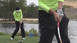 STACY LEWIS - HANDS AT IMPACT (CLOSE UP SLOW MO) DRIVER SWING 2014 CME TIBURON GOLF COURSE 1080p HD