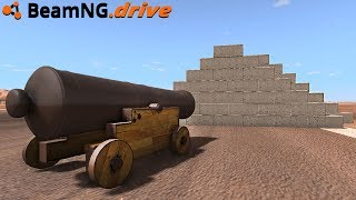 BeamNG.drive - 300 MPH CANNON vs INDESTRUCTIBLE WALL