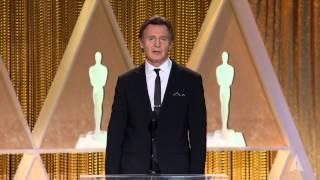 Liam Neeson honors Maureen O'Hara at the 2014 Governors Awards