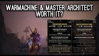 War Machine & Master Architect worth it? Morrowind ESO