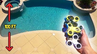 CAN FIDGET SPINNERS PROTECT MY IPHONE FROM 100FT DROP?! | Challenges | FaZe Rug