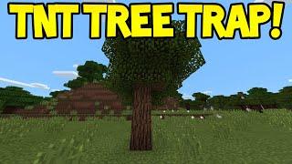 Minecraft Pocket Edition - 0.13.0 Easy TNT Tree Trap - Tutorial
