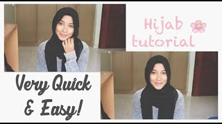 Hanis Zalikha Inspired - A very quick & easy hijab tutorial!