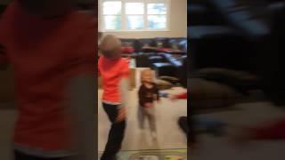 Cooper dancing