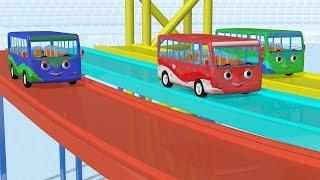 Wheels on the bus hot wheels tracks | Wheels on the bus go round and round | Kiddiestv