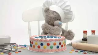 Teddy bear Happy birthday video