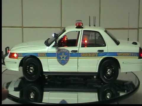 1:18 scale Essex County,  Sheriff Car w/ Lights & Siren