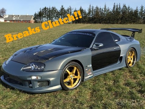 1000HP SUPRA BLOWS UP CLUTCH & GEARBOX AT REV LIMIT!