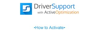 Activation Guide for Driver Support w/ Active Optimization