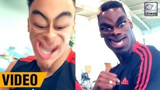 Jesse Lingard & Paul Pogba Jokes Around In Gym Ahead Of Clash With Chelsea