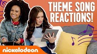 Nick Stars React To Theme Songs 🎵 Ft. JoJo Siwa, Daniella Perkins & More! | #NickStarsIRL