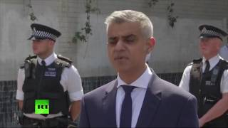Sadiq Khan gives statement on #FinsburyPark attack