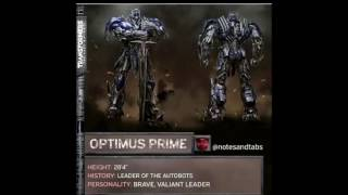 TRANSFORMERS the last knight characters