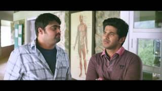 Vaayai Moodi Pesavum Tamil Movie   Dulquer Salman gestures to Arjunan