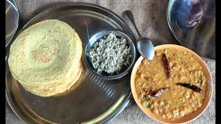 Village Foods ❤ Dosa with Sambar and Coconut Sambal prepared by my Mom