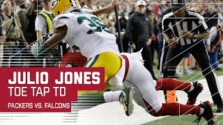 Rodgers INT Leads to Julio Jones Toe-Tap TD!   Packers vs. Falcons   NFC Championship Highlights