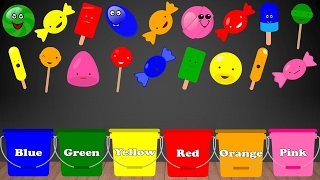 🎨 Learn Colors with CANDY for Children Jelly Lollipops Ice-cream | Color Sorting Educational Video