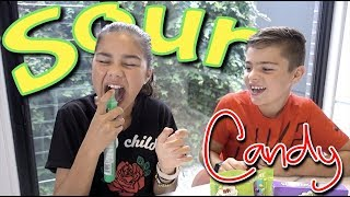 Trying Sour Candy | Grace's Room