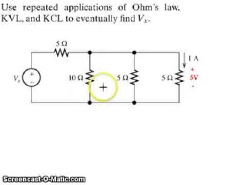 Xxx Mp4 Example Application Of Kirchhoff S Voltage Law KVL Current Law KCL And Ohm S Law 3gp Sex