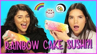 DIY RAINBOW CAKE SUSHI?! | DIY or Di-Don't w/ Life After Quince Shany & Airam