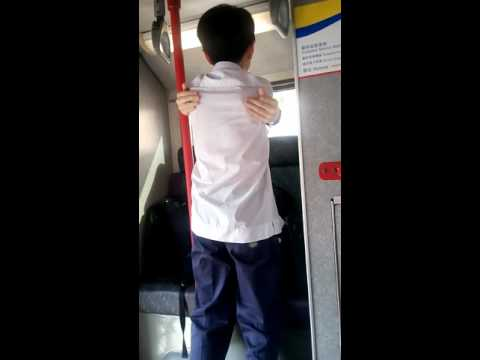 How to massage yourself on the bus.