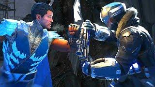 Injustice 2 - Sub-Zero Vs Captain Cold All  Intro Dialogue/All Clash Quotes, Super Moves